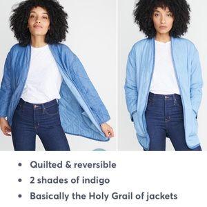 """Marine Layer """"Jane"""" fully reversible indigo jacket"""